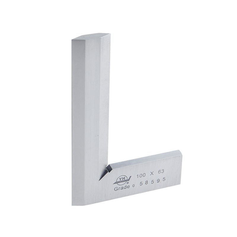 Stainless Steel Angle Ruler 100*63mm Grade 0 Bladed 90 Degree Beveled Edged Square Bevel Protractor Parallel Sample Square
