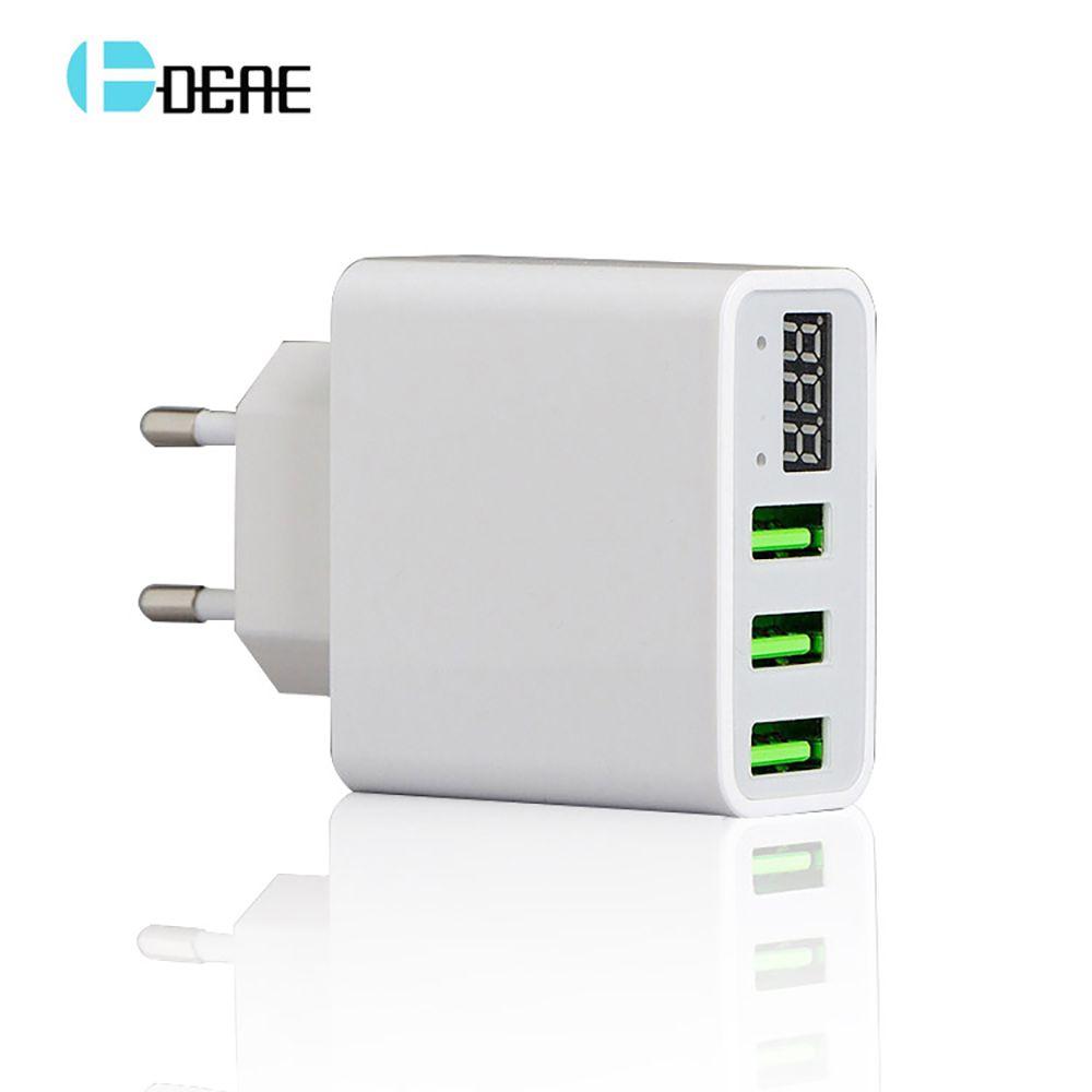 Chargeur USB LED universel pour 3 ports rapide 5 V 3A EU US prise Charge adaptateur de téléphone de voyage pour iPhone 8 X Samsung Galaxy S8 Xiaomi