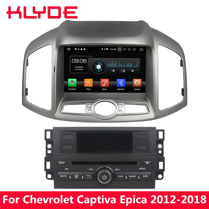 KLYDE 8 4g Octa Core Android 8 4 gb RAM 32 gb ROM Auto DVD Player Stereo Für Chevrolet captiva Epica 2012 2013 2014 2015 2016-2018