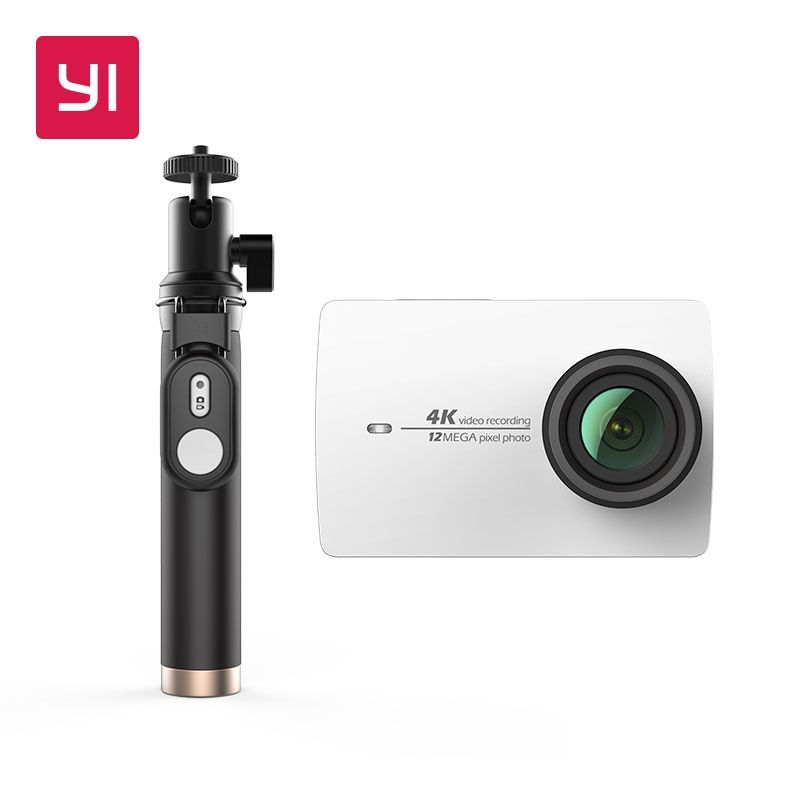 YI 4K Action caméra Selfie bâton paquet Ambarella Sport caméra 2.19