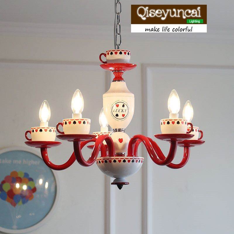 Qiseyuncai American Children's Room Chandelier England Girl Princess Home Decoration Children Bedroom Lighting free shipping