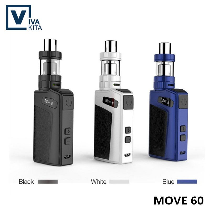 Original Vaptio 60 W Starter Kit Cigarrillo Electrónico mods 60 W Vape Cuadro Mod Con 2.0 ml Tanque VS Eleaf Istick 30 W 50 W 100 W Ijust 2