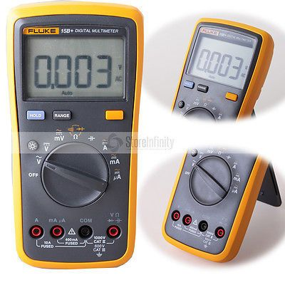 Fluke 15B+ Plus Auto Range Digital Probe Multimeter Meter Free shipping