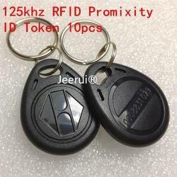 125Khz Proximity #3H EM4100 Chip 125 khz RFID ID Token/Keychain RFID Key Ring ID Tag For Hotel Door system Switch Power  10PCS