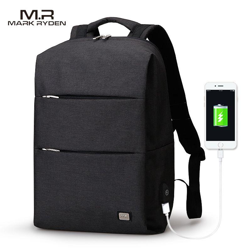 Mark Райден Новый Для мужчин рюкзак для 15.6 дюйм(ов) ноутбук рюкзак большой Ёмкость stundet рюкзак Повседневное Стиль Сумка водоотталкивающая
