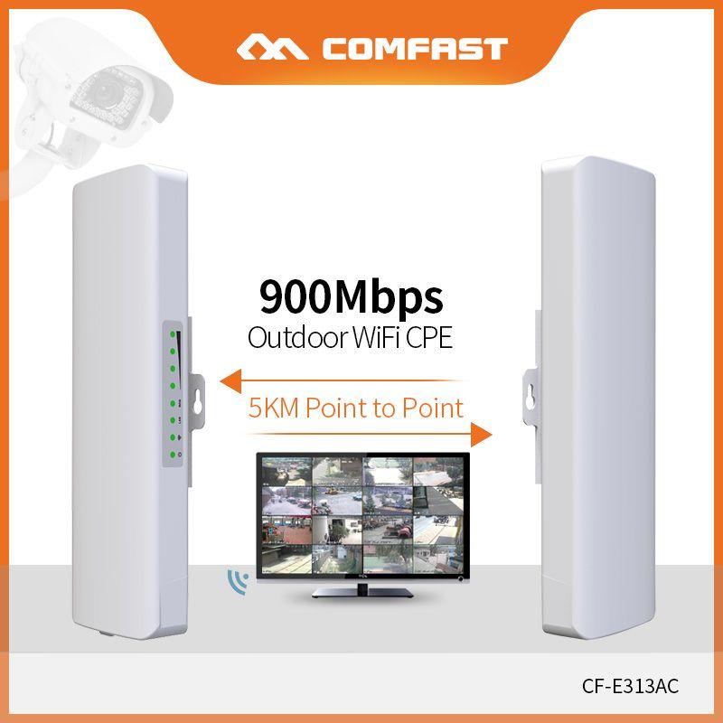 COMFAST 2 stücke Lange Palette 5 KM Außen Mini Wireless AP Brücke 900 Mbps 5,8 Ghz WIFI CPE 12dBi WI-FI antenne Nanostation CF-E313AC
