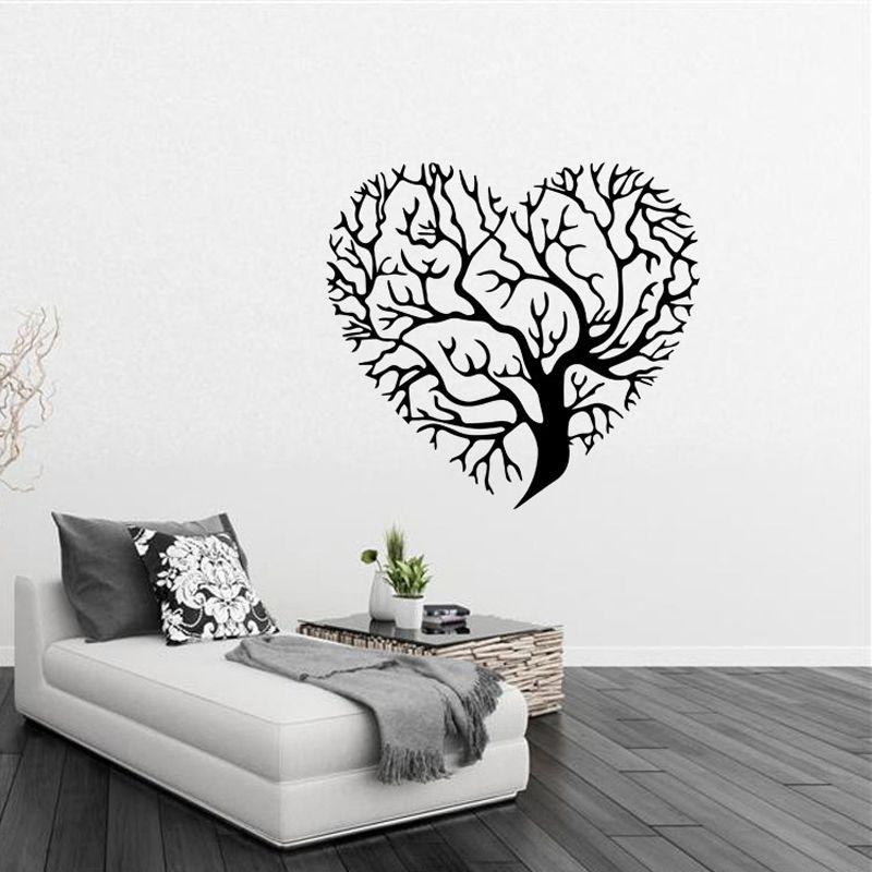 3D Wallpaper Love Tree Creative Wall Stickers Living Room Bedroom TV Background Decorative Waterproof Mural