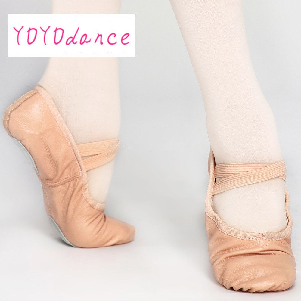 Free Shipping Ballet Shoes Factory Sale Full Sole And Splite Shoe Women Kids Soft Leather Ballet Shoes Wholesale