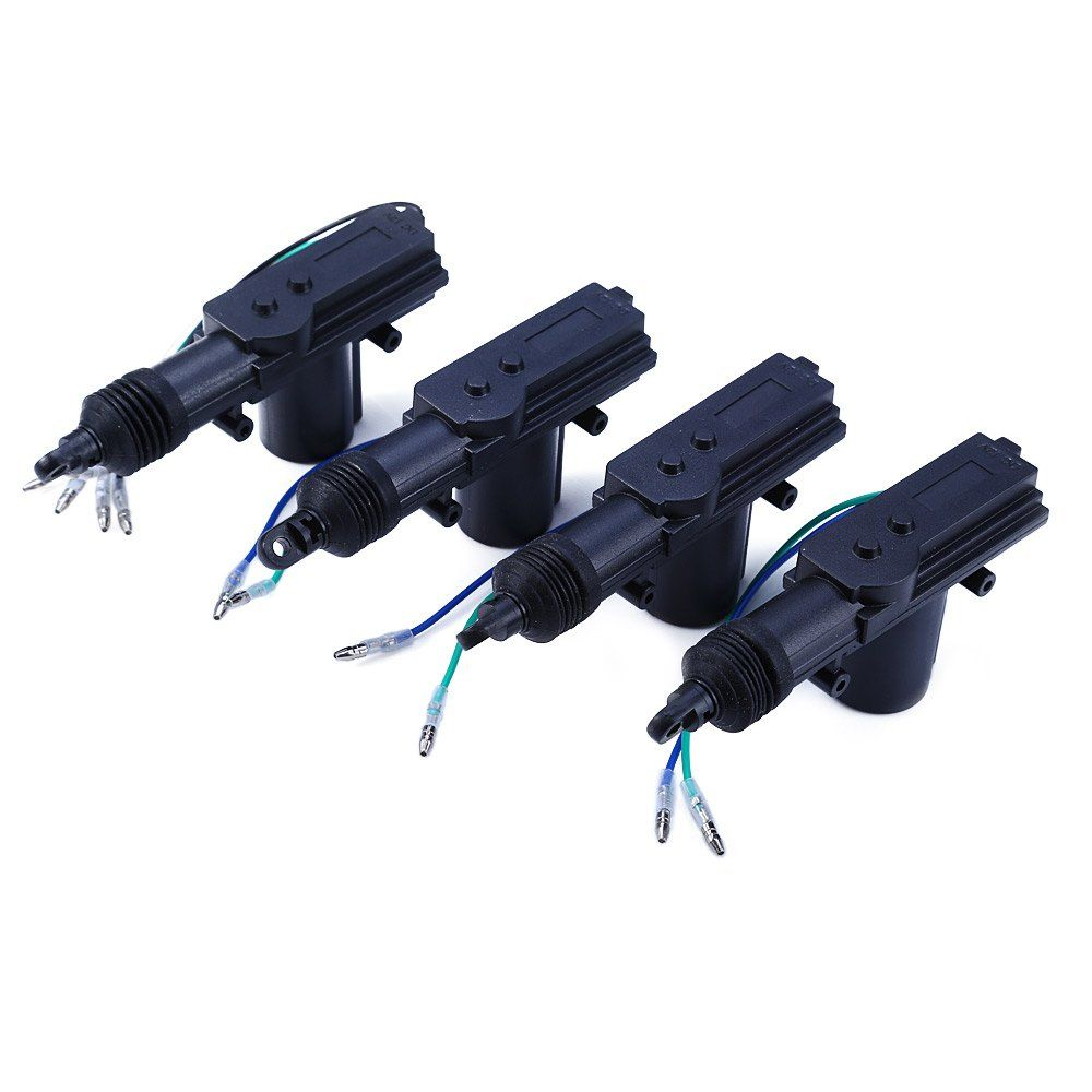 4Pcs/Set Universal Car Power Central Auto Locking System Motor for Trunk Doors Lock Actuator Professional 12V Car Alarm Device