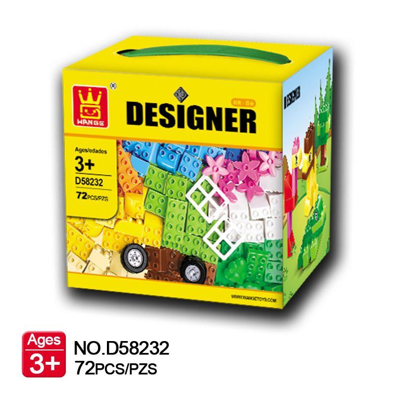 72 pcs Grande Taille Briques Set City BRICOLAGE Briques Créatives Jouets Éducatifs pour Enfants De Construction Wange Briques Compatibles Lego duplo