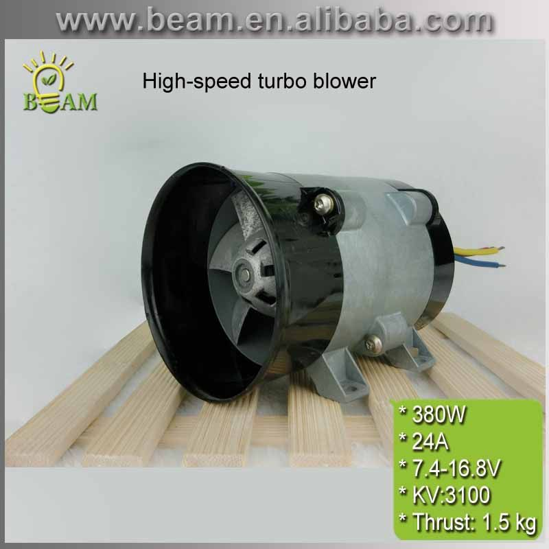 FREIES VERSCHIFFEN 380 Watt 24A Metall culvert fan Interne rotor bürstenlosen gleichstrommotor High speed turbine fan für Pneumatische hovercraft
