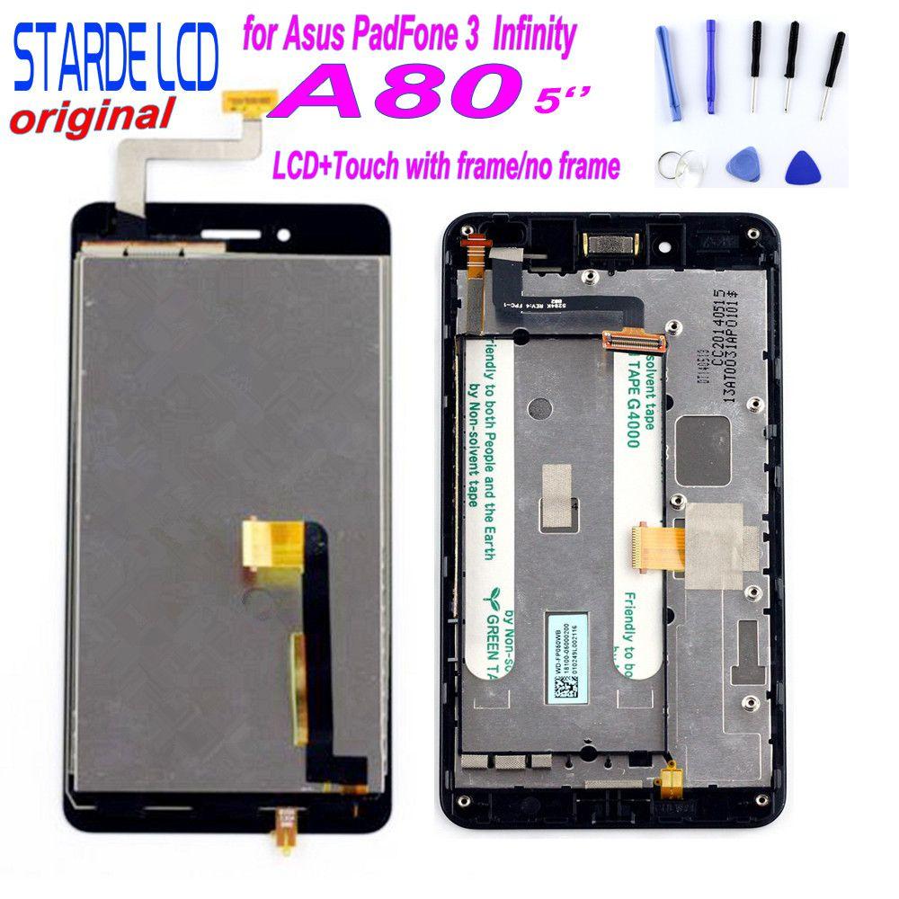 STARDE LCD für Asus PadFone 3 Unendlichkeit A80 LCD Display Touchscreen Digitizer Montage mit Rahmen + Kostenlose Tools