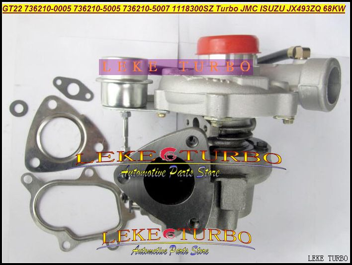 GT22 736210-5005 736210-0005 736210 5005 736210 0005 736210 1118300SZ Turbo Turbine Turbocharger For ISUZU For JMC JX493ZQ 68KW