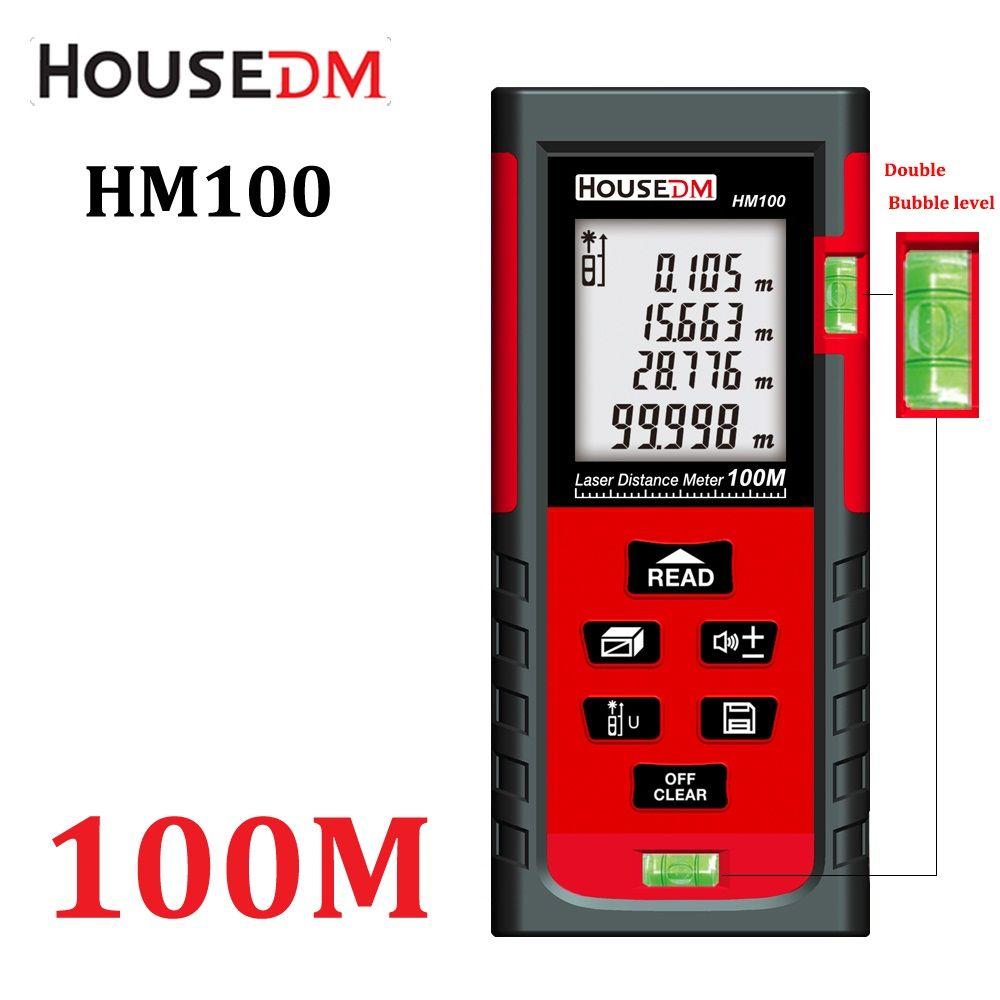 Digital Laser distance meter laser rangefinder range <font><b>finder</b></font> measuring 40M 60M 80M 100M trena Laser tape Measure tester tools