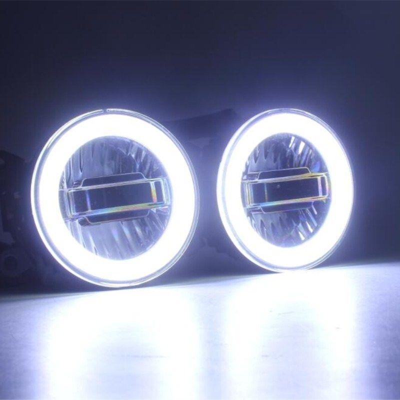 Luckeasy 3in1 HighlightLED Angel Eyes + LED Tagfahrlicht + LED Nebelscheinwerfer Für Ford Transit Falcon Ranger 2012 2016 drl
