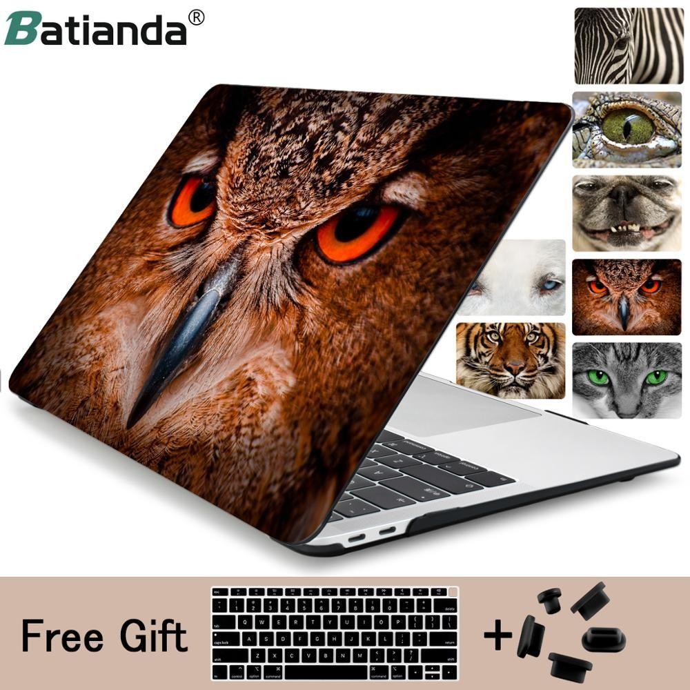 Animal visage belle chouette zèbre tigre chat chien impression étui pour macbook Pro 13 Air 13 11 Pro 15 Retina 12 pouces housse d'ordinateur portable shell