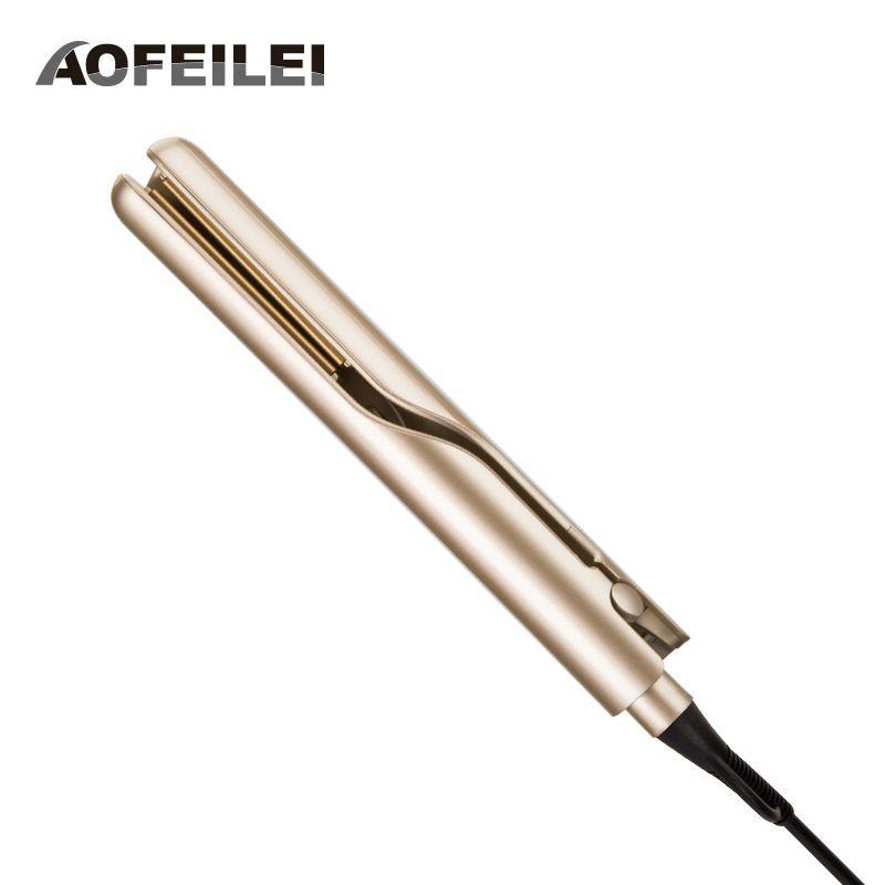 Fer à lisser électrique professionnel et fer à friser bigoudi 2 en 1 fer à lisser fers plats outils de coiffure en céramique