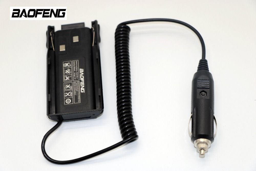 Baofeng Battery Eliminator Car Charger For cb Portable Radio UV-82 UV-82 plus UV-8D UV-82HX UV-82HK Walkie Talkie Accessories