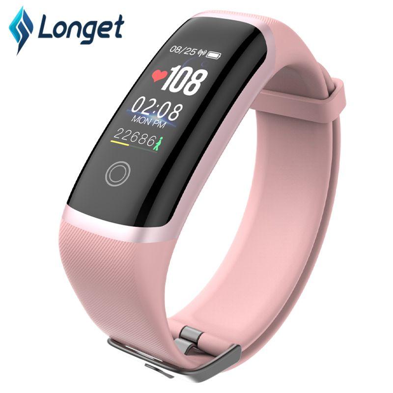 Longet Fitness Tracker M4 Blood Pressure Waterproof Smart Bracelet Call Reminder Calories Smart Band Sport Watch for iOS