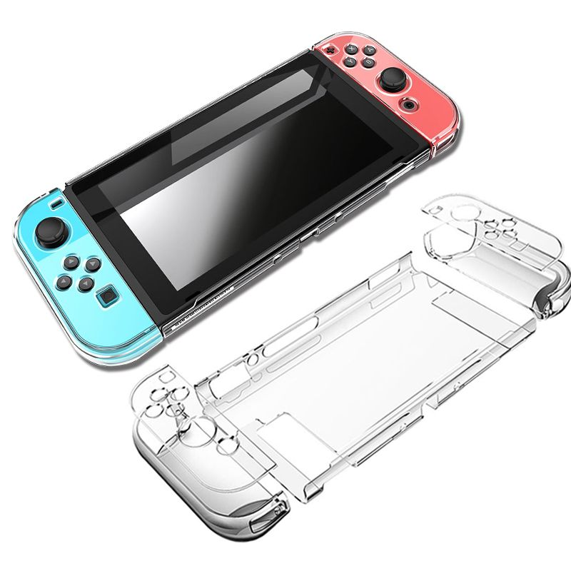 Couvercle de protection pour PC Nintendo Switch NS NX Coque Transparente Coque en Cristal Accessoires pour Contrôleur de Console avec Etuis de Support