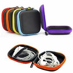 LINSBAYWU мини из искусственной кожи на молнии наушников чехол для хранения наушников сумки защитный кабель USB Организатор Портативный коробка ...