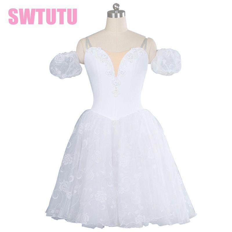 girl's white romantic tutu professional ballet costumes for girls, Adult Classical ballet dress ballet tutu costumeBT8901