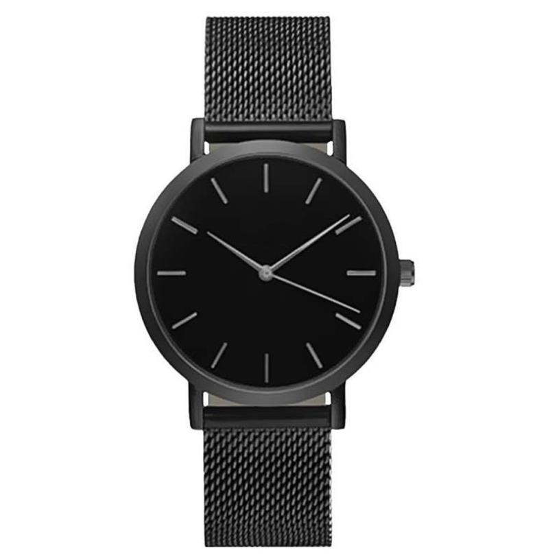 2017 relogio masculino Women Crystal Stainless Steel Analog Quartz Wrist Watch Bracelet 17AUG23