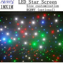 1 m2 شاشة led ستار ، 5050 led الخلفية ستارة dmx 512 التحكم (حجم التخصيص ، اللون التخصيص)