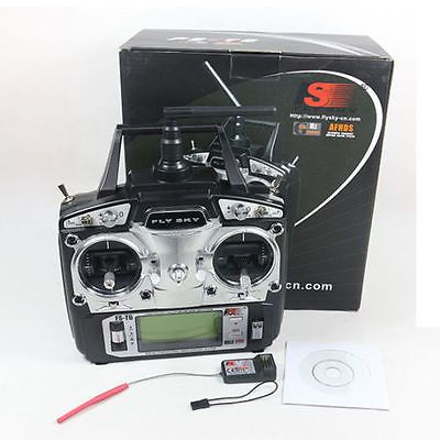 FlySky FS-T6 2.4G 6CH TX RX FS-R6B RC Radio contrôle émetteur récepteur système pour qav250 h280 qav280 h220