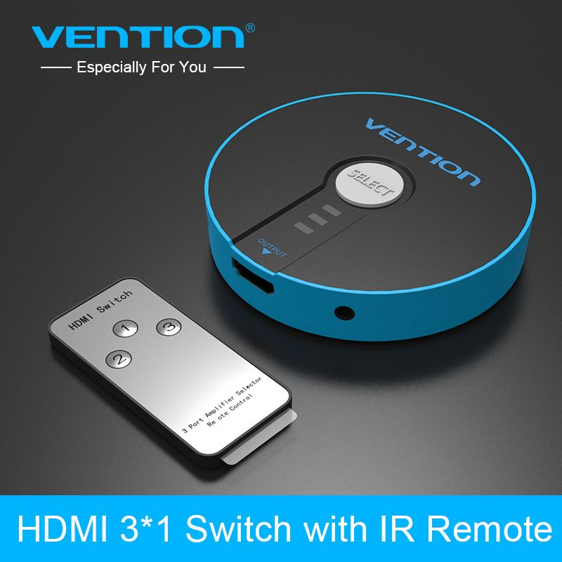 Vention 3 Port <font><b>HDMI</b></font> Switch Switcher <font><b>HDMI</b></font> Splitter 3x1 for PS3 PS4 Xbox 360 PC DV DVD HDTV 1080P <font><b>HDMI</b></font> 3 Input to 1 Output Adapter