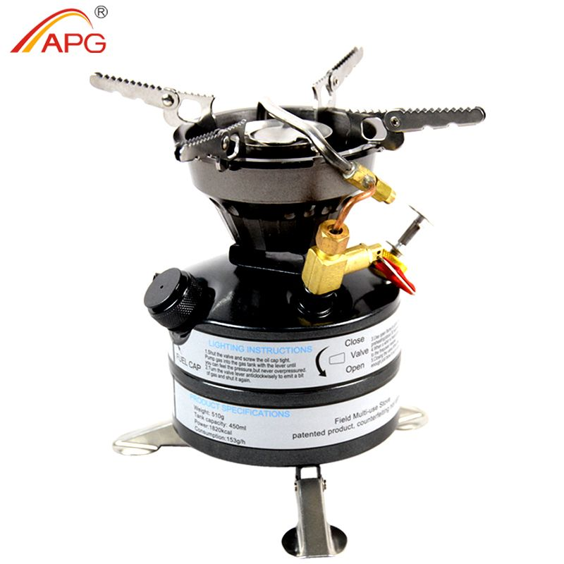 APG Liquid Fuel Camping Gasoline Stoves Portable Outdoor One-piece Kerosene Burners Cooker for Outdoor Picnic