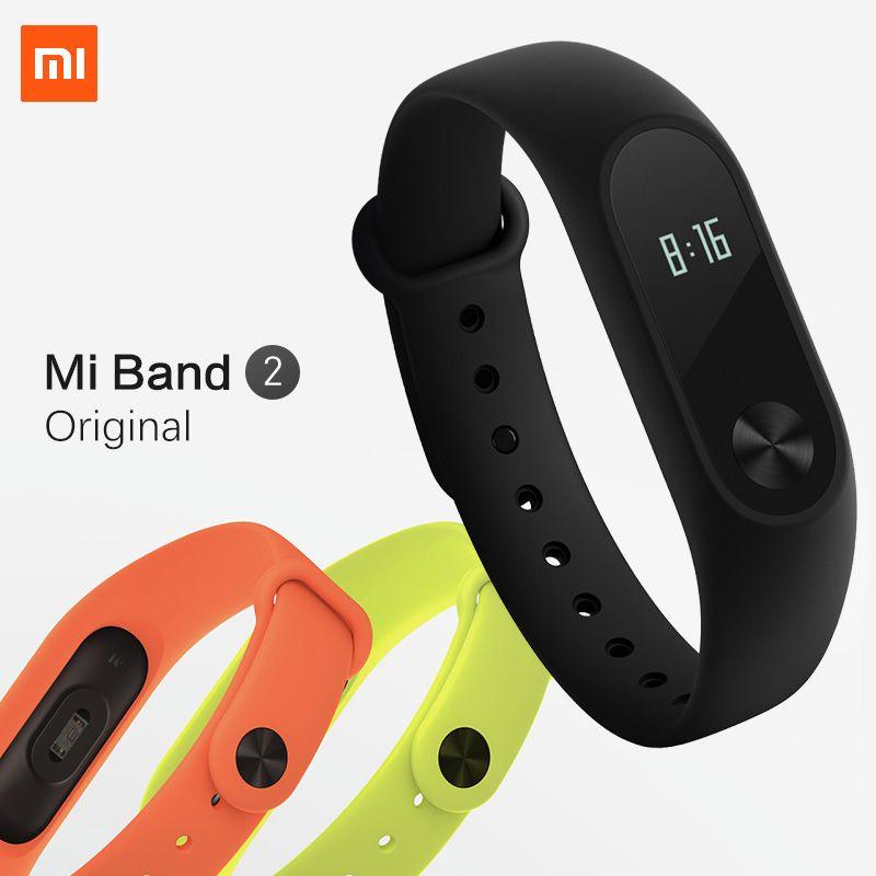 Xiaomi Mi Band 2 MiBand 2 Pulse Smart Sport Sleep Heart Rate Monitor Bracelet Fitness Tracker Wristband IP67 Waterproof Strap