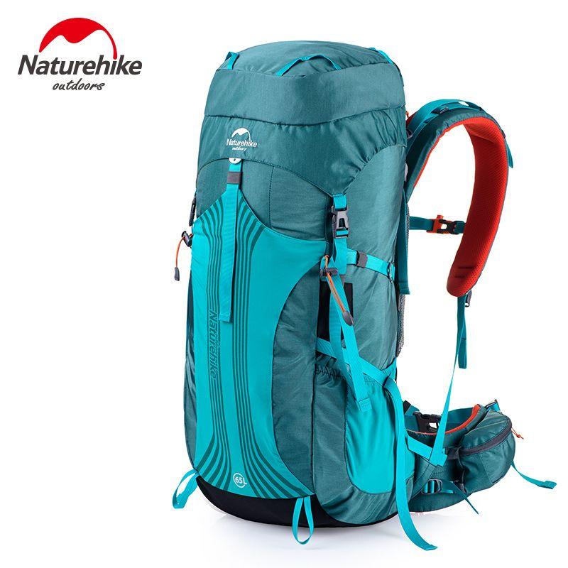Naturehike 65L Outdoor Klettern Rucksack Mit Professionelle Regen Abdeckung 76x33,5x25 cm Einstellbare Schulter Expedition Tasche 1,98 kg