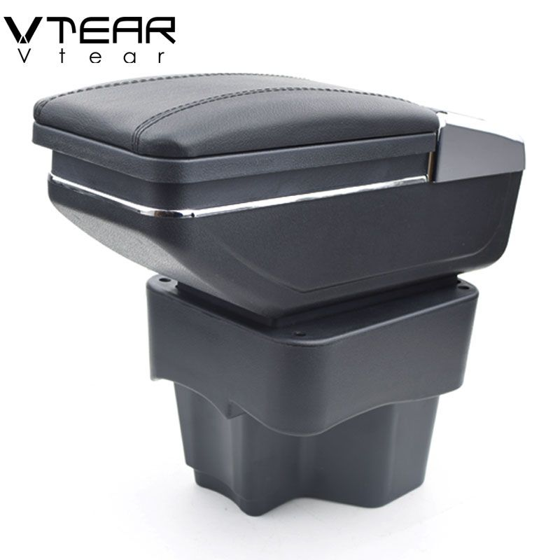 Vtear For KIA K2 RIO armrest box central Store content box with cup holder products interior car-styling Accessories 2011-2016