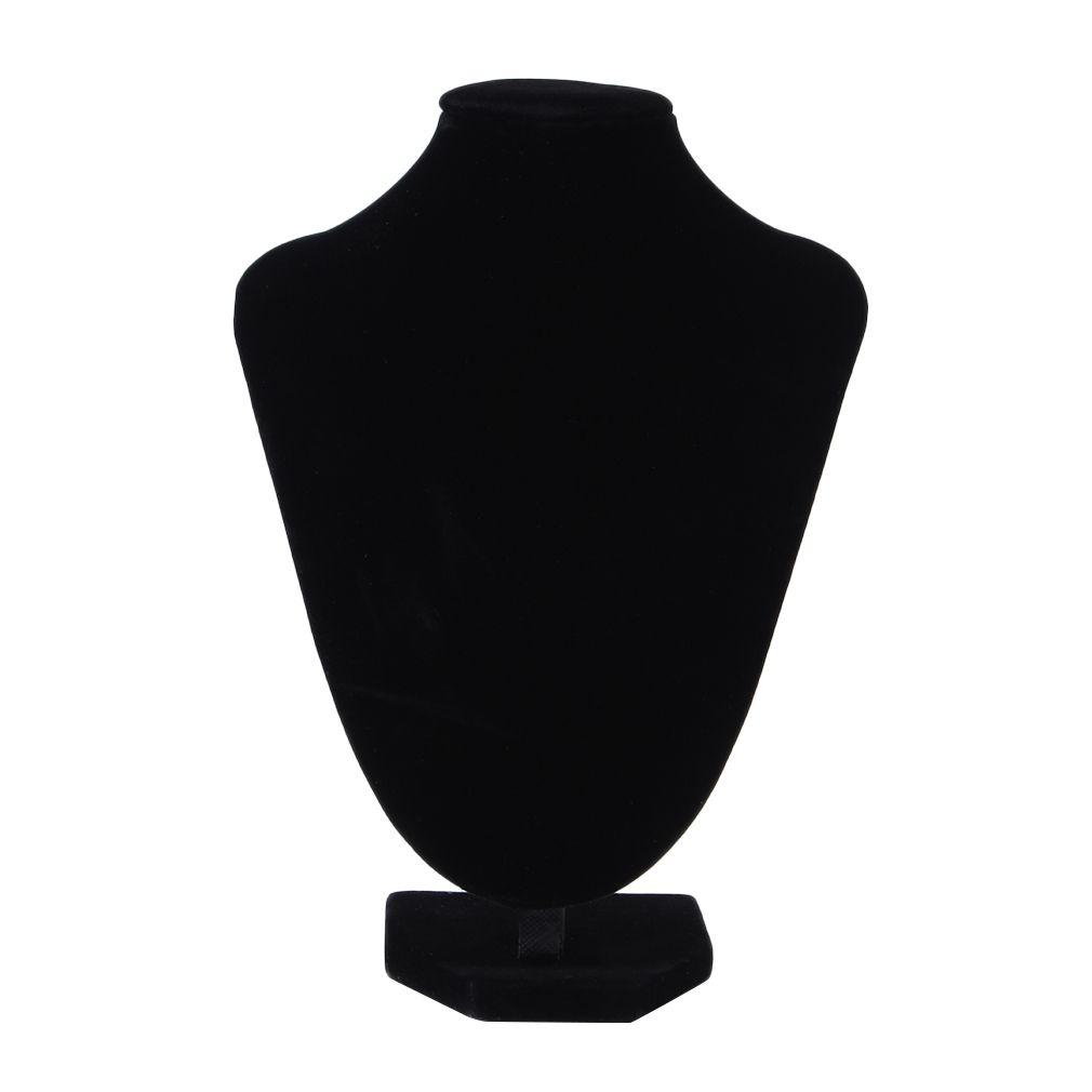 GENBOLI Collar Pulsera Colgante Gargantilla Joyería Mostrando Soporte de Exhibición Estante de Terciopelo Negro Maniquí Holder Organizador Showcase