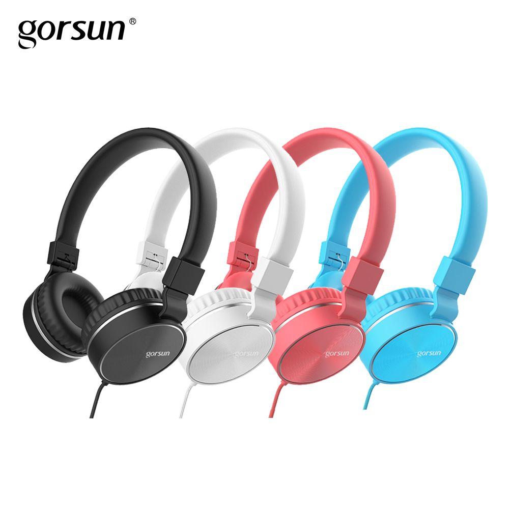 Kopfhörer mit Mic Wired Tragbare Faltbare Auf-Ohr Headset mit Mikrofon Volume Control für Handys xiaomi PC MP3 Gorsun GS776