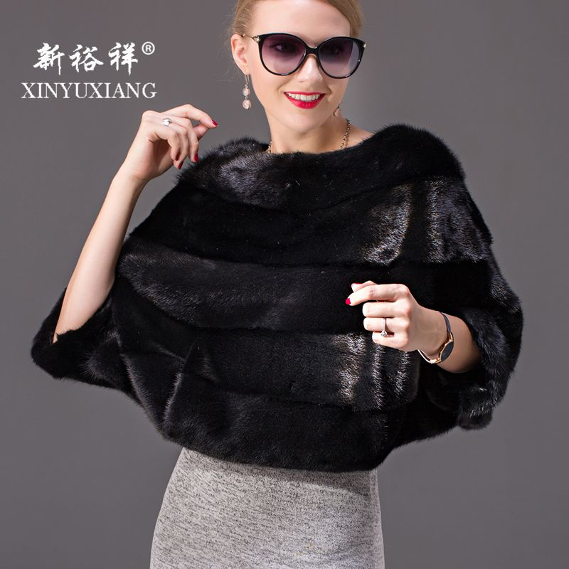Big Sale! Black Full Pelt Genuine Mink fur Coats Women Winter Short Bat Sleeved Warm female pink real Natural mink fur coats