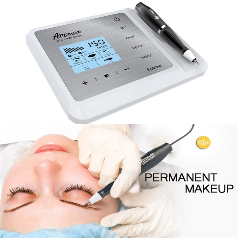 Artmex V9 Eye Brow Lip Rotary Stift Permanent Make-Up Tattoo Maschine MTS PMU System Mit V9 Tattoo Nadel