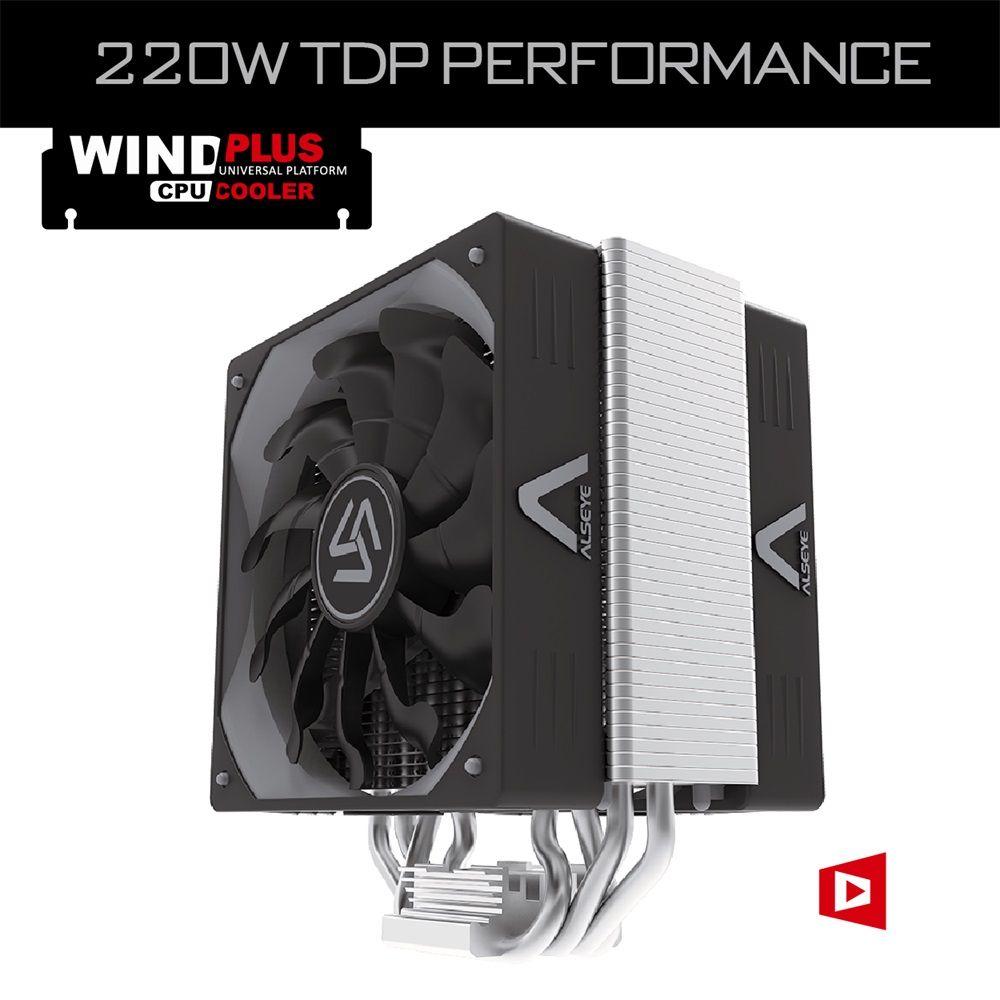 ALSEYE CPU cooler with Thermal paste Dual 4pin PWM 120mm fan TDP 280W Cooler Fan Radiator for LGA 2011/775/115X/AM2+/AM3+