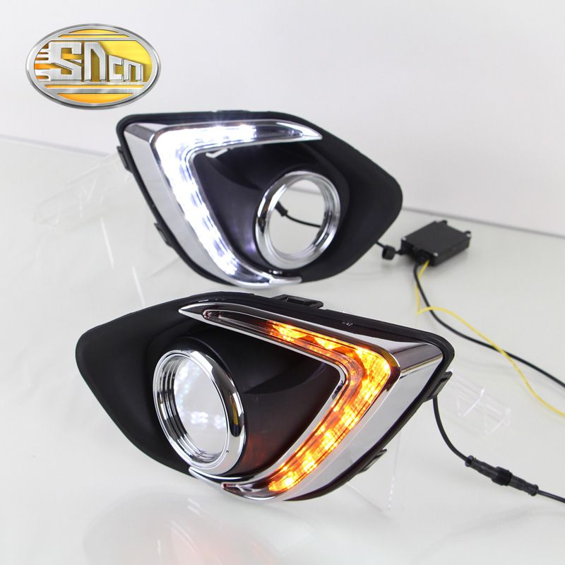 SNCN LED Daytime Running Light For Mitsubishi ASX 2013 2014 2015,Car Accessories Waterproof ABS 12V DRL Fog Lamp Decoration