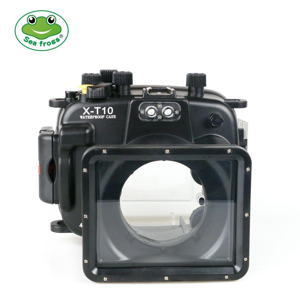 Seafrogs Kamera Tasche für Fujifilm T20 40 m Gehäuse Unterwasser Halter Stabilisator für Fujifilm T10 Wasserdichte Fall Kamera Zubehör