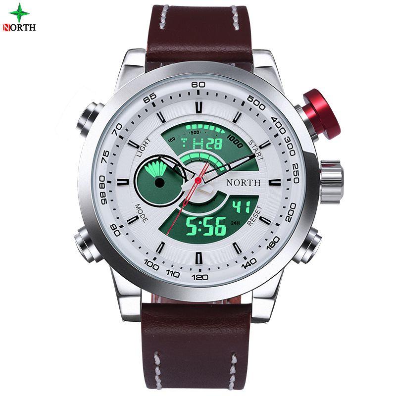 Montre <font><b>Homme</b></font> Waterproof Sport Digital LED Watches Men Analog Digital Watch Brand Men Luxury Quartz Wristwatch Men Sports Watches