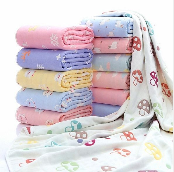 Для новорожденных хлопок Одеяло младенческой толщиной 6 слой Aden Anais муслин Bebe Пеленальный Постельные принадлежности детские дышащие Одеяла...
