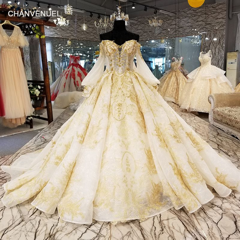 LS39121 beautiful sweetheart wedding dress with lace flowers and long cape lantern long sleeve sexy off the shoulder bride gown