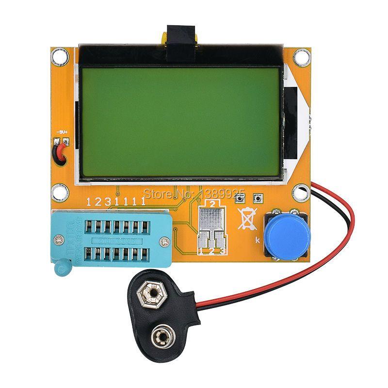 5 UNIDS Mega328 LCR-T4 M328 LCR llevó Transistor Tester Diodo Triodo Capacitancia ESR Meter MOS PNP/NPN Medidor de Electricidad Pantalla LCD