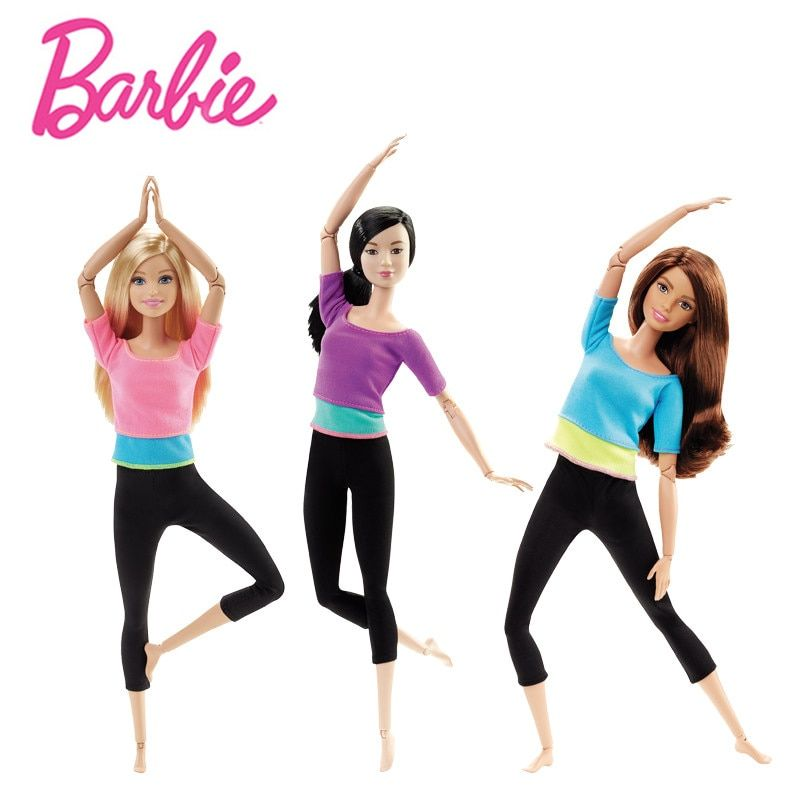 Original Barbie Doll Movement Style Joints Movable Yoga Fashion Barbie Girl Toy Accessories Birthday New Year 2018 Gift DHL81