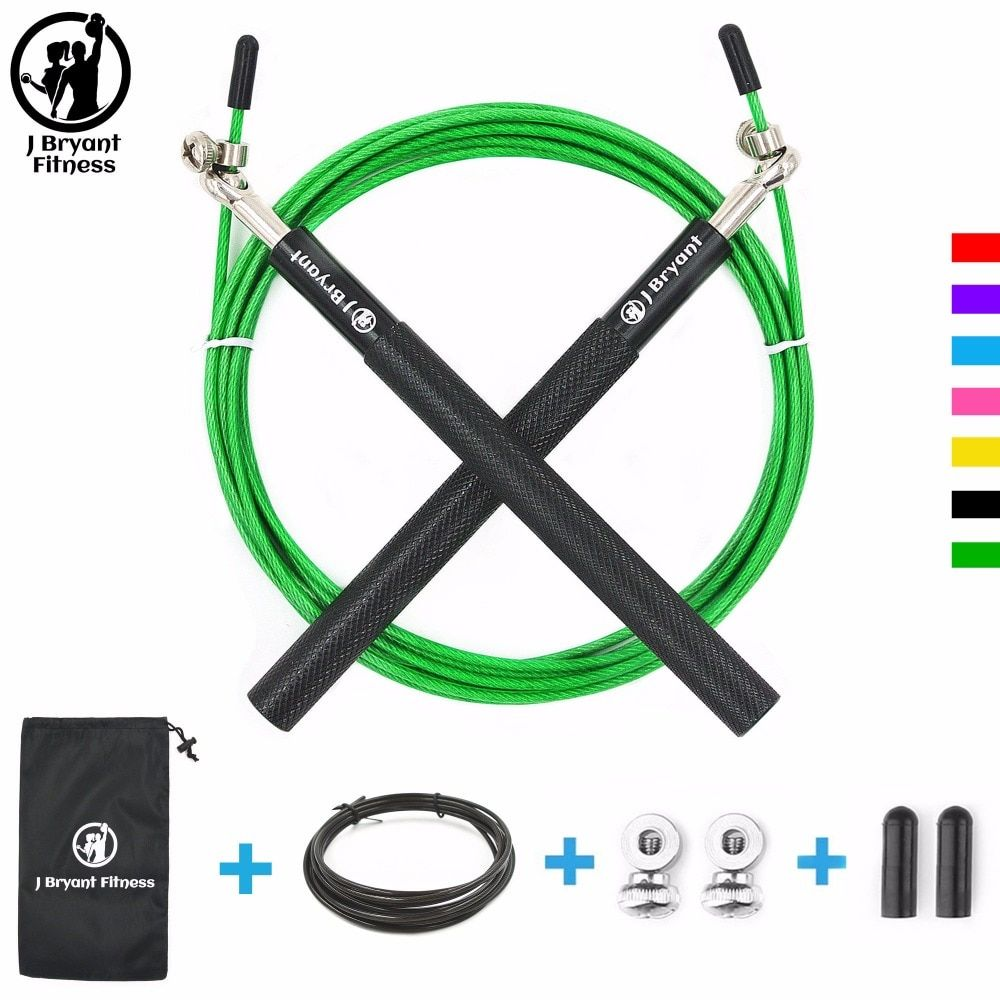 Speed Jump Rope Crossfit skakanka Skipping Rope For MMA Boxing Training Fitness Home Gym Workout With Carrying Bag Spare Cable
