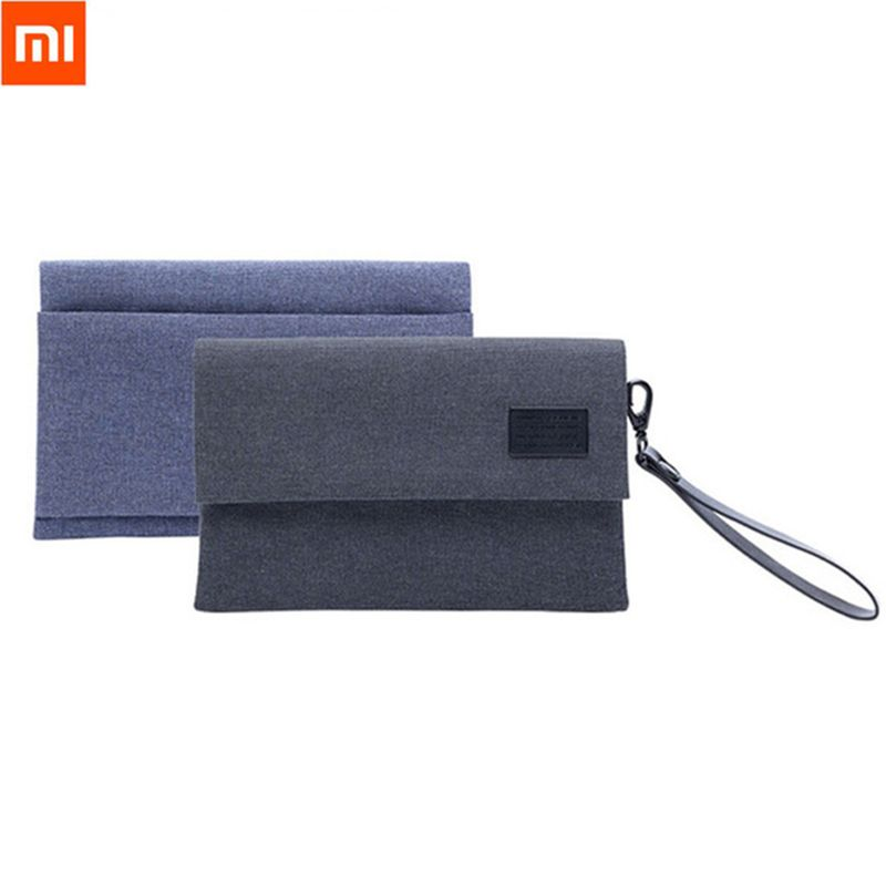 Original XiaoMi Water-resistant Electronics Accessories <font><b>Organizer</b></font> Bag 600D Anti-Splashing Portable Bag For Cable Earphone Phone
