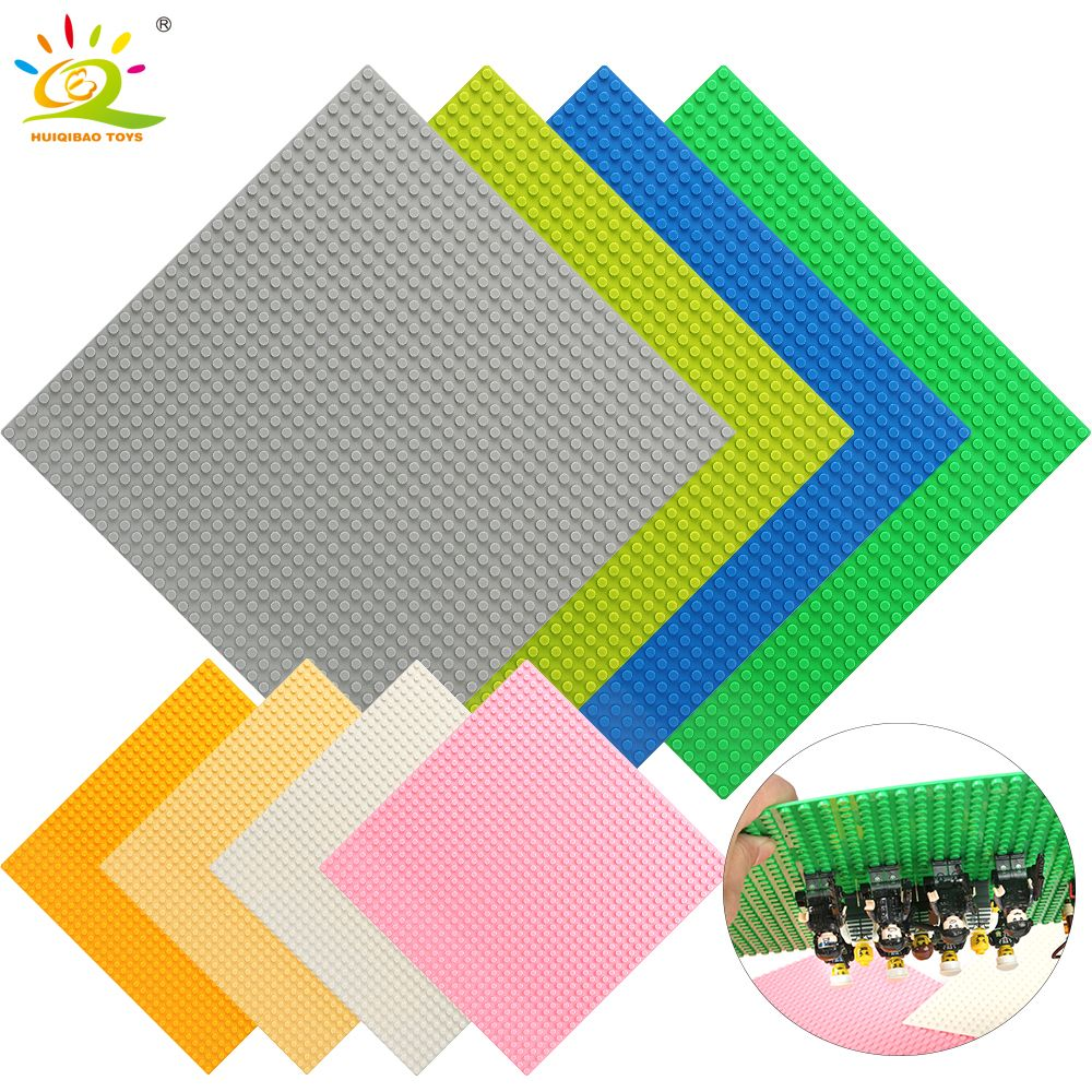 8 Color 32*32 Dots Base Plate for Small Bricks Baseplate Board Compatible Legoing figures DIY Building Blocks Toys For Children