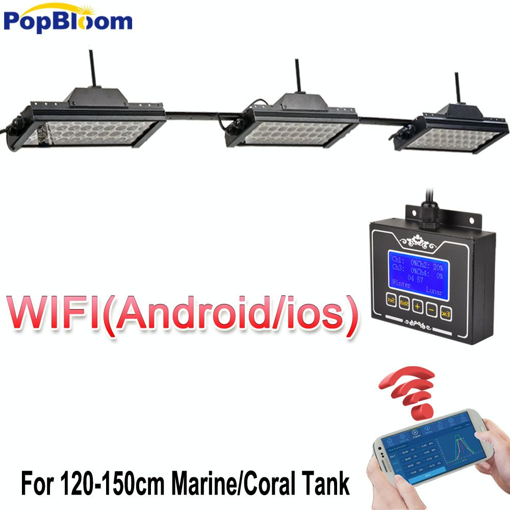 Smart Led Aquarium Beleuchtung Marine Lampe Riff Licht Led Luz Aquario Aquarium Licht Gesamte Spektrum Aquarium Licht MJ3BP3